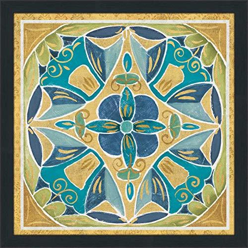 (Picture Perfect International Daphne Brissonnet Free Bird Mexican Tiles III Framed Plexiglass Wall Acrylic Art 27.5