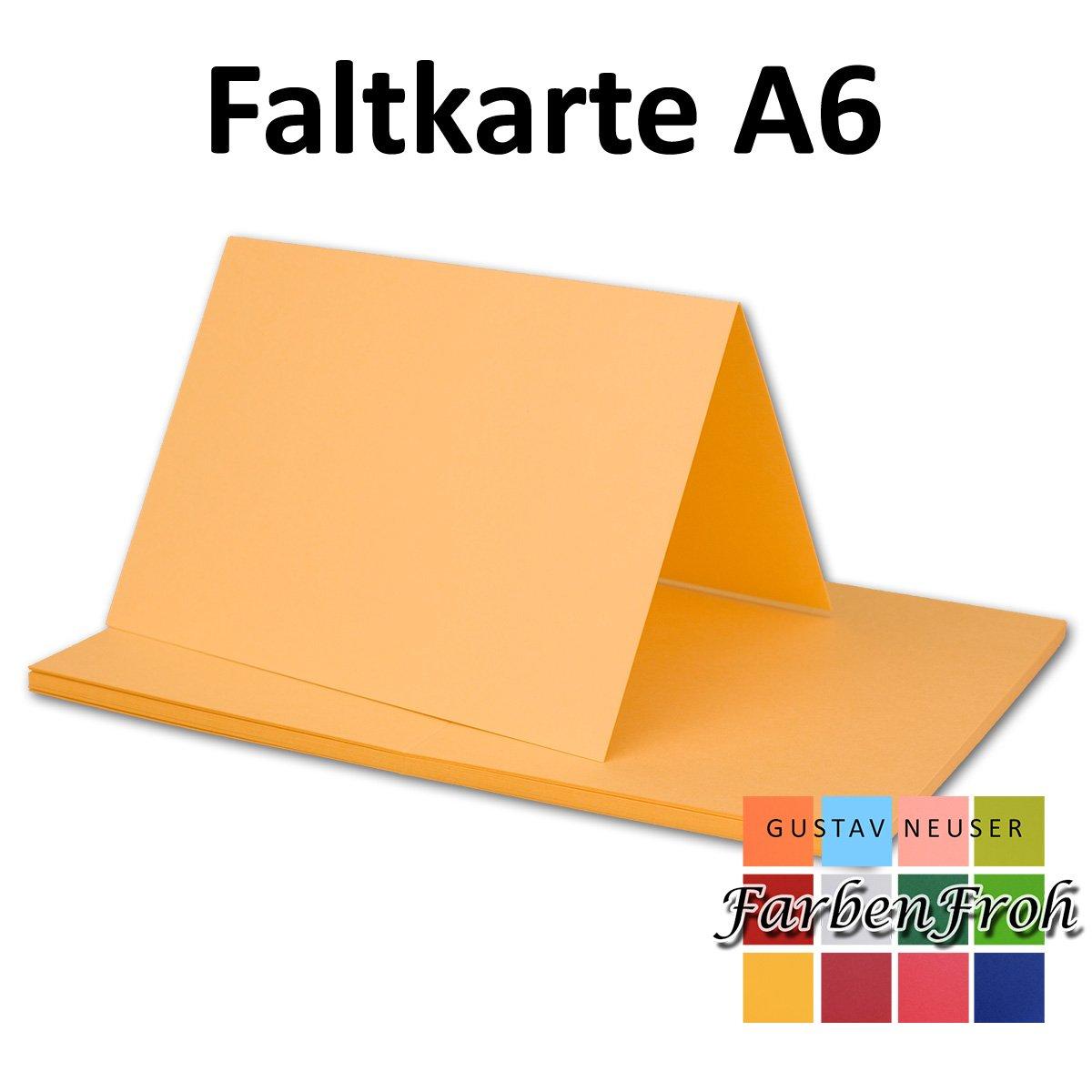 150x Falt-Karten DIN DIN DIN A6 Blanko Doppel-Karten in Vanille -10,5 x 14,8 cm   Premium Qualität   FarbenFroh® B079X25G28 | Charakteristisch  6f793b