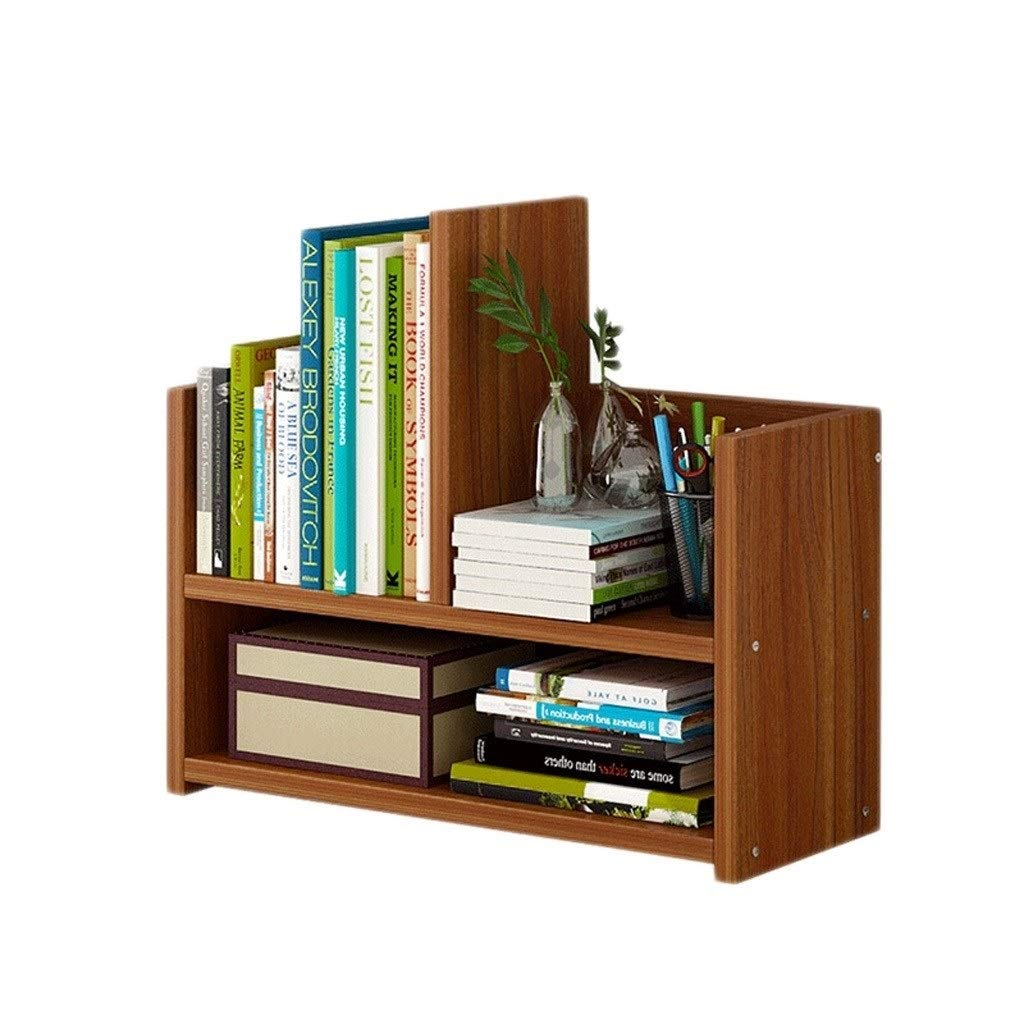 TIAN Wood Desktop Bookshelf Countertop Bookcase Display Holder Accessories Display Rack Office Supplies Desk Organizer by TIAN