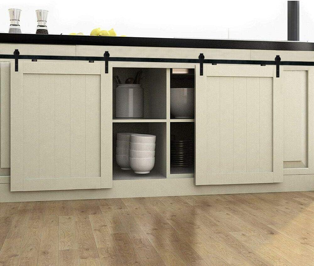 Hahaemall - Puertas correderas de interior - forma curvada de 0,9 a 2,4 m - para armario y soporte de TV: Amazon.es: Bricolaje y herramientas