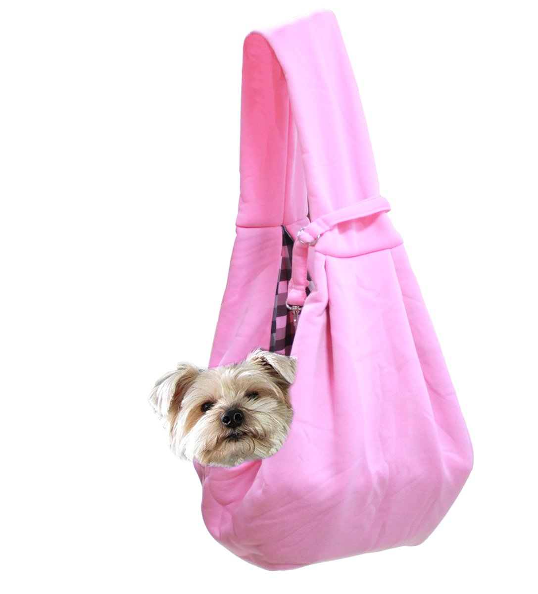 DingTai Dog Cat Sling Carrier Bag Puppy and Kitten Carrier Pink