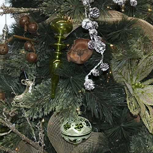 Set of 14 Large Christmas Tree Ornaments, Antique Green Stained Glass, Heirloom Quality by Langdon Mills (Image #3)