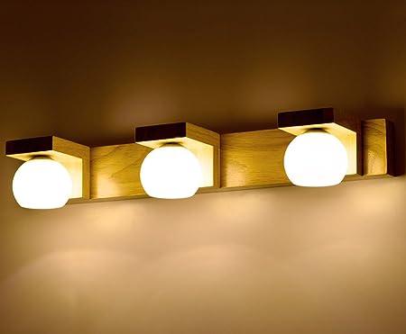 LLKOZZ Luces delanteras con espejo, Nordic led bedroom Escalera de la escalera de las luces de