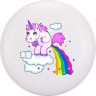 Eurodisc Frisbee in plastica biologica, motivo unicorno e nuvole bianche, 175 g 4.0 New Games - Frisbeesport
