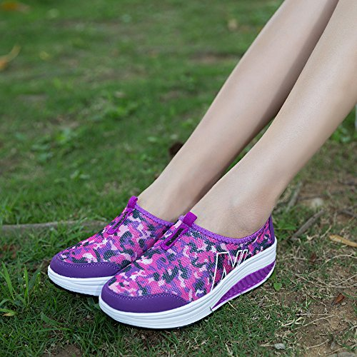 Zicoope Damen Athletic Casual Slip-On Toning Sneaker Wanderschuh Lila (b)