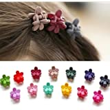 IFfree Bangs Mini Hair Claw Clip Hair Pin For Little Girls Random Assorted Colored, 30 Piece