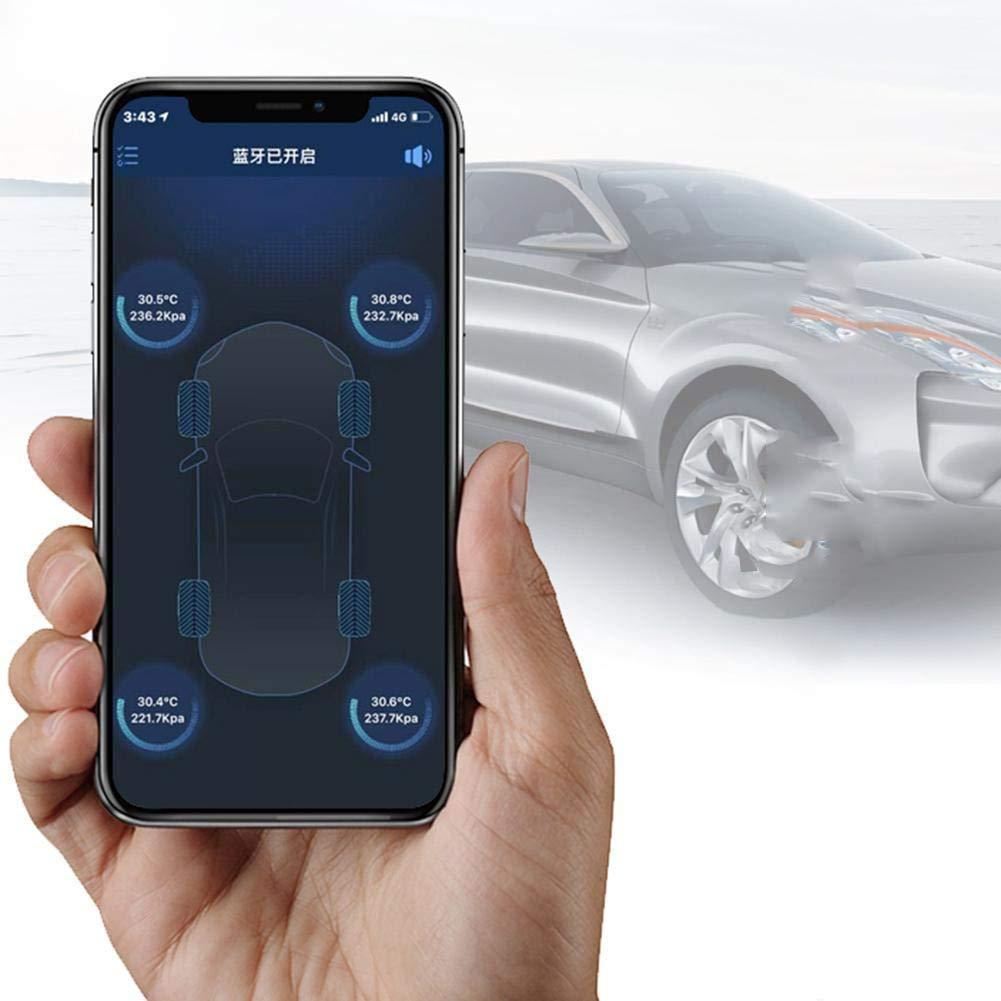 WOVELOT Monitoraggio della Pressione dei Pneumatici per Autoveicoli Tester di Pressione Pneumatici Pneumatico Intelligente Monitoraggio Dellapp di Sicurezza TPMS con Chiave