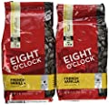 Eight Oclock Coffee, French Vanilla Whole Bean, 11-ounce Bags (Pack of 2)