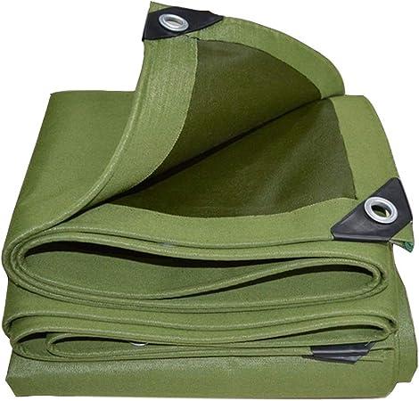 AQAWAS Lona Impermeable Exterior, Lona para Leña con Ojales Bordes Reforzados, Pesada Abrigo, para Estanque/Red para Jardín O Planta,Armygreen_4x8m/12x24ft: Amazon.es: Hogar