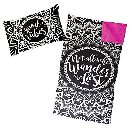 Limited Too Good Vibes 2-Piece Slumber Bag and Mini Pillow Set