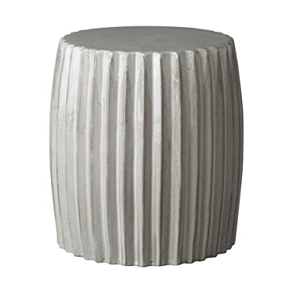 Sensational Amazon Com Gray Pleated Garden Stool Garden Outdoor Inzonedesignstudio Interior Chair Design Inzonedesignstudiocom
