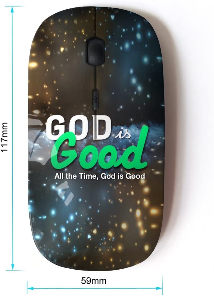 KOOLmouse Bible Verse GOD is Good Optical 2.4G Wireless Computer Mouse