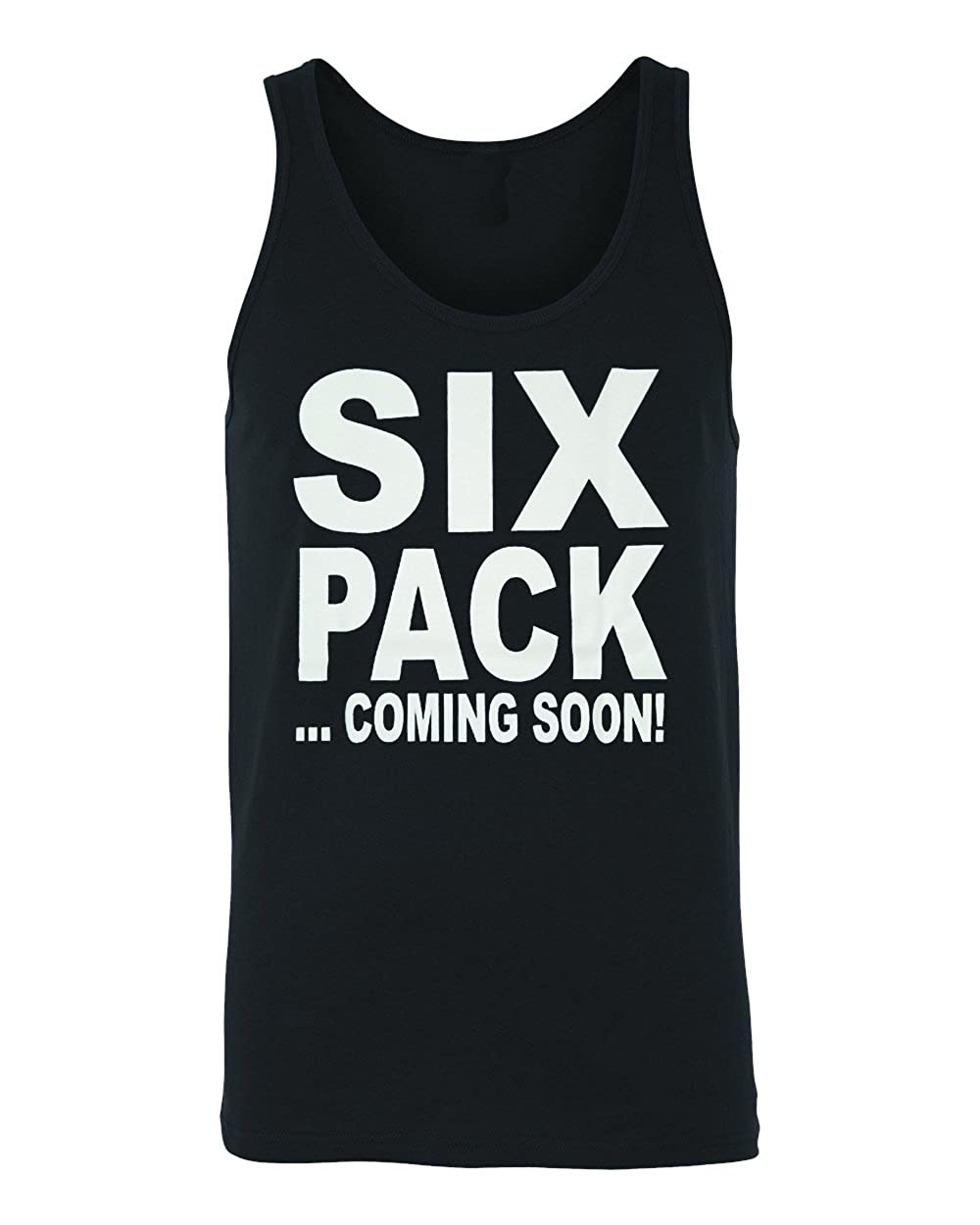 Funny style Mens Six Pack Coming Soon Black Tank Top