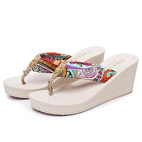 f789f96646a1d Amazon.com: SHANGXIAN Women's Beach Sandals Slippers Wedge Sandal ...
