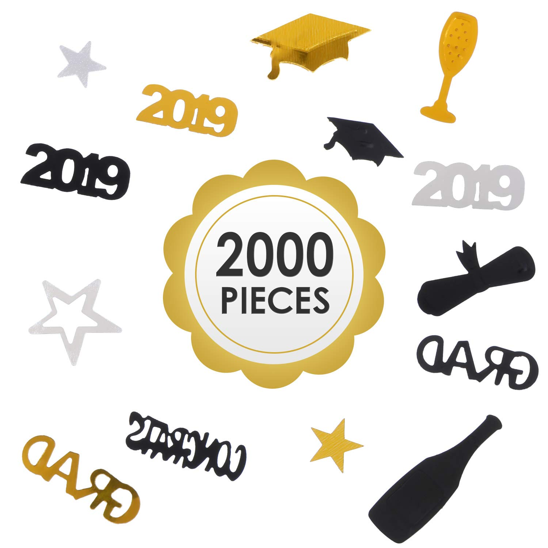 CCINEE 6000 Pieces 2019 Graduation Confetti Grad Decoration Party Supply for Party Table Graduation Celebration
