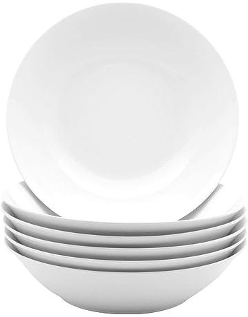 fff0acec1408b Argon Tableware White Large Porcelain Pasta Salad Bowls - 253mm (10