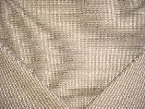 214H18 - Sand / White / Gold Over-Scaled Basketweave / Check Chenille Designer Upholstery Drapery Fabric - By the -