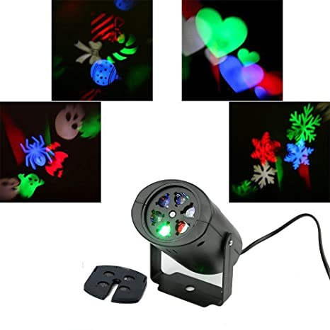 In 4patterns Led Stage Light Christmas Laser Projector Outdoor Waterproof Flashlight Disco Home Garden Party Lndoor Decoration Lamp Novel Design;