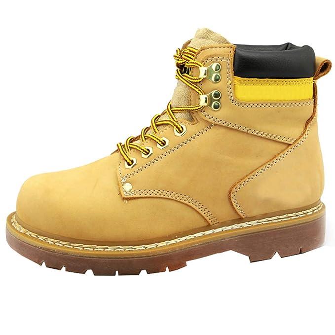 LEFT&RIGHT Botas De Hombre, Botines De Tacón Bajo para Hombre Zapatos De Cuero Cálidos De Invierno Zapatos De Cordones Ocasionales De Los Hombres Botas De ...