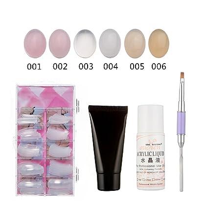 Funie - Juego de pinceles de gel para extensión de uñas postizas, acrílico, líquido, doble extremo, 1#: Amazon.es: Belleza