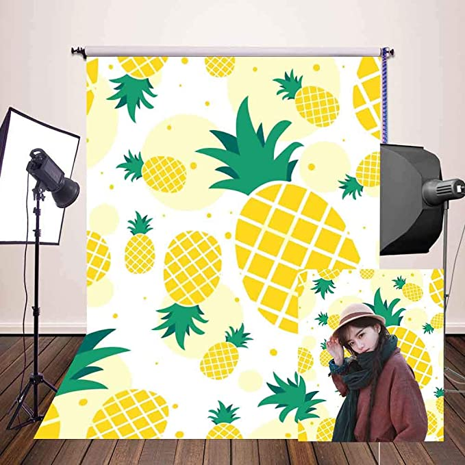 10x15ft Pineapple Backdrop Fruit Theme Party Photography Backdrop Props Studio Photo Background LHFU133