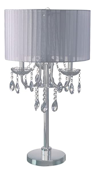 Sh Lighting 6733t Wh U Crystal Inspired 3 Bulb Table Touch Lamp