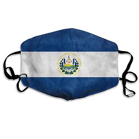 OHMYCOLOR El Salvador Bandera Rayas Face Boca Máscara Unisex Moda ...