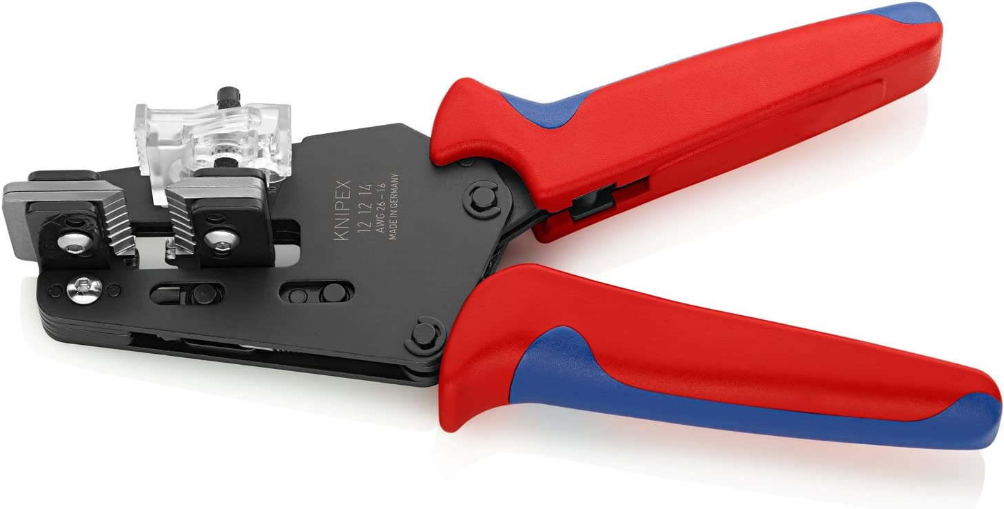 Knipex 12 12 14 Precision Insulation Strippers with adapted blades AWG 16//18//20//22//24//26