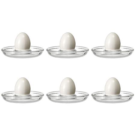Eierbecher oval stapelbar aus Glas 6er Set Eierbecher-Set