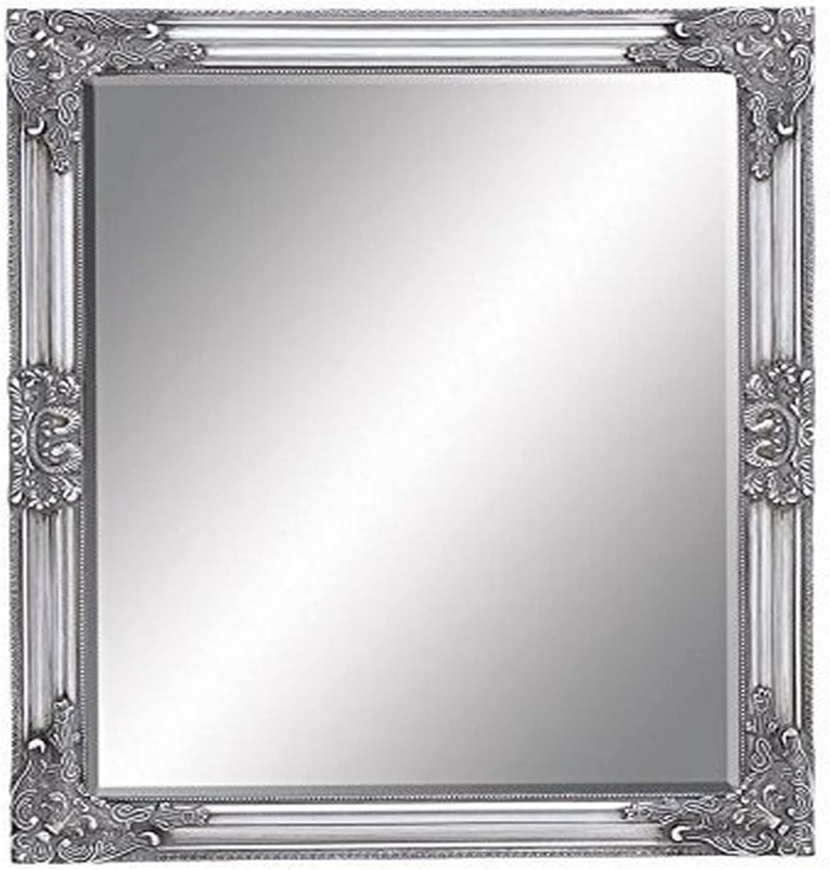 Amazon Com Deco 79 Framed Bevelled Mirror 26 By 32 Home Kitchen