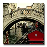 Black White And Red Wall Art Painting Italy Venice Bridge Gondola Pictures Prints On Canvas City The Picture Decor Oil For Home Modern Decoration Print