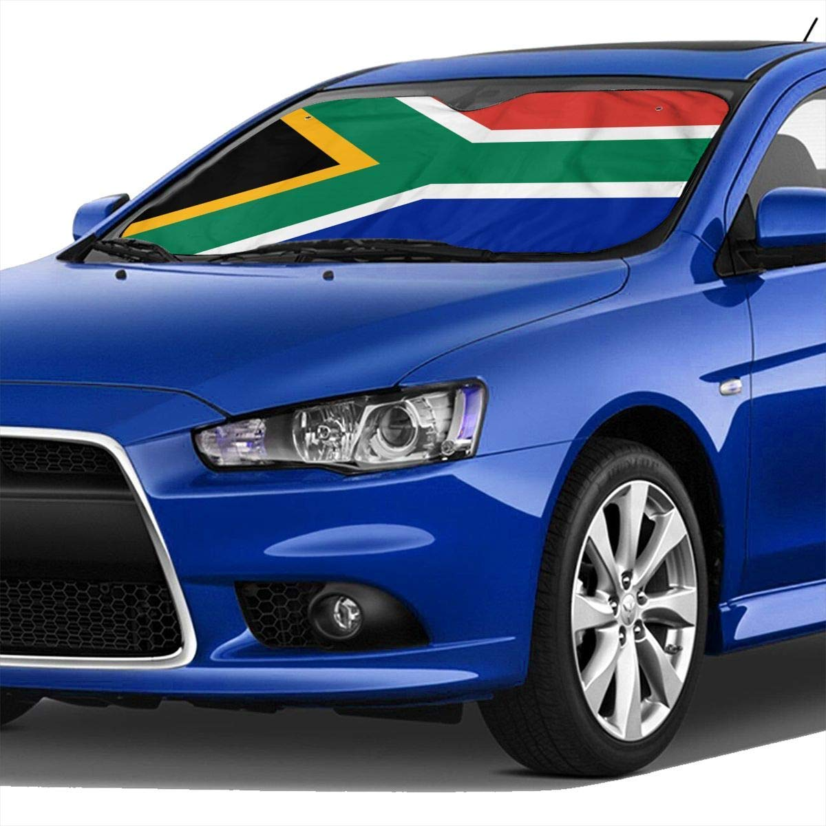 Comfort/&products South African Flag Car Windshield Sun Shades Universal Fit 70 X 30 cm,Car Truck SUV Vehicle Sunshade Front Windshield Fashion