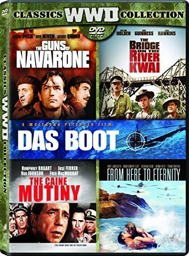 Bridge on the River Kwai, the (Original Version) / Caine Mutiny, the / Das Boot (Director's Cut) / from Here to Eternity (1953) / Guns of Navarone, the - Set (Newest Movies On Dvd)