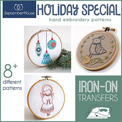 Holiday Special ChristmasHand Embroidery Pattern Collection Iron On Transfers (Hand Christmas Embroidery)