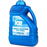 BubblePlay 1 Pack 64-Ounce Bubble Solution - Free Big Bubble Wand & Easy Pour Bottle for Fun Bubble Machines - EASTER…