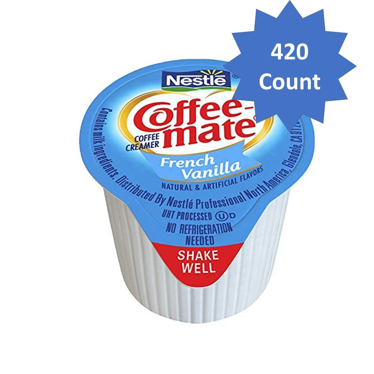 Nestle Coffee-mate Coffee Creamer, French Vanilla, liquid creamer singles, Pack of 420 (French Vanilla, Pack of 420) by Nestle Coffee Mate
