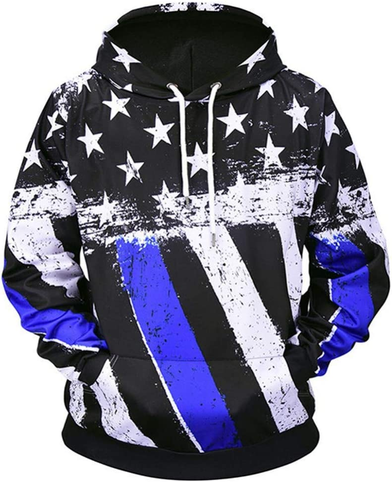 PU Frühling und Herbst Sports Sweatshirts Herren Large Size Outdoor Sweatershirt Kreative Flag Printing Hoodies Sweatershirt,** L L