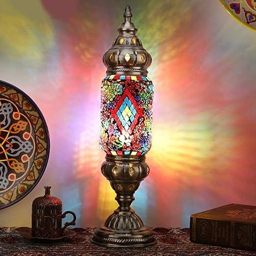 Y&HY Lámpara turca, lámparas de Escritorio Estilo Tiffany, Luces ...