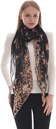 LMVERNA Scarfs for Women Animal Print Scarf Fashionable Voile Shawls and Wraps