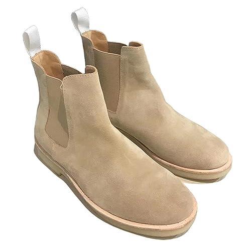 Martin Boots Botines Botas Zapatos MD100808 Botas Planas Simples Antideslizante Impermeable Moda Mujer,GJDE , 35 , khaki: Amazon.es: Zapatos y complementos