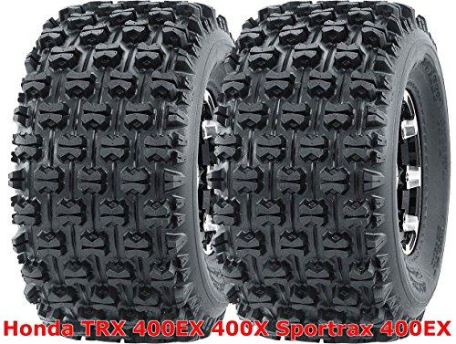 Tires 400ex Honda (2 WANDA 20x10-9 Honda TRX 400EX 400X Sportrax 400EX rear GNCC Racing Tires)