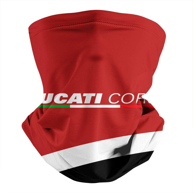 Ducati-Corse-Di-Ca-Ti- Calentador de Cuello Microfibra,Cuello Pañuelo Viento Polvo Prueba,Hombre Mujer Pañuelo de Cabeza,Polainas de Cuello Elástico,Bufanda Facial Unisex