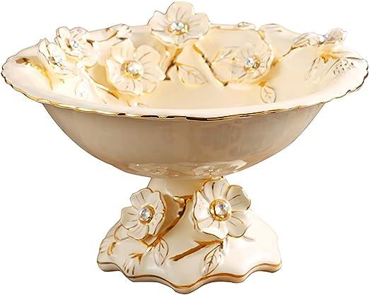 Amazon Com Dabenxioing Gilded Ceramic Fruit Bowl Decorative Snack