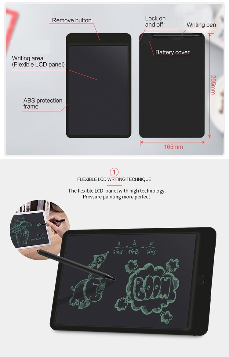 Altruist MultiPurpose LCD e-Writing Board 8.5-inch, White also Inkless Drawing//Memo Pads or Paperless Noting//Planning Boards