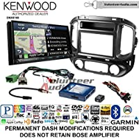 Volunteer Audio Kenwood DNX874S Double Din Radio Install Kit with GPS Navigation Apple CarPlay Android Auto Fits 2015-2017 Chevrolet Colorado, GMC Canyon