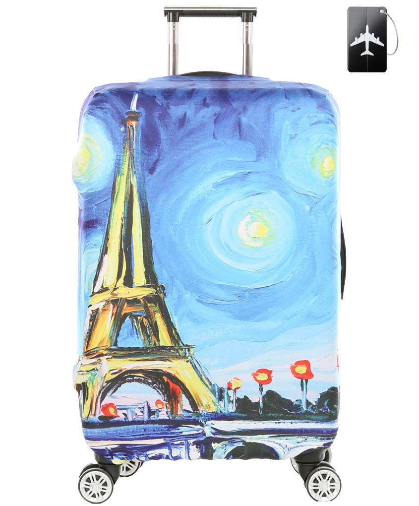 Luggage Cover,Washable Elastic Suitcase Cover Protector with Luggage Tag