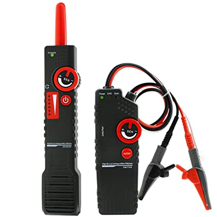 Anti-jamming Underground AC220V High & Low Voltage Power Cable Tracker Detector Tester Wire Locator Coax with Alligator Clip - - Amazon.com