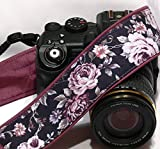 Purple Roses Camera Strap. Canon Nikon Camera Strap. Photo Camera Accessories; 132