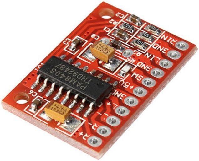 * 3/W PAM8403/Audio Module dalimentation USB 5/V CC////PAM8403/Ultra Miniature num/érique amplificateur de puissance Board 2/Classe D chann * * Solu PAM8403/Mini amplificateur num/érique de classe D 2/*