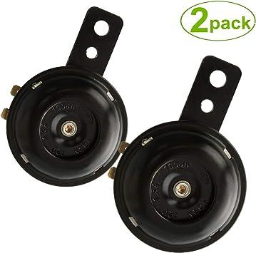 SoundOriginal Universal Motorcycle Electric Horns Auto Horns Loud kit 12V 1.5A 105db Waterproof Round Loud Horn Speakers